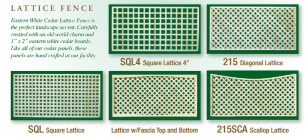 Lattice fence styles by Steadfast Fence