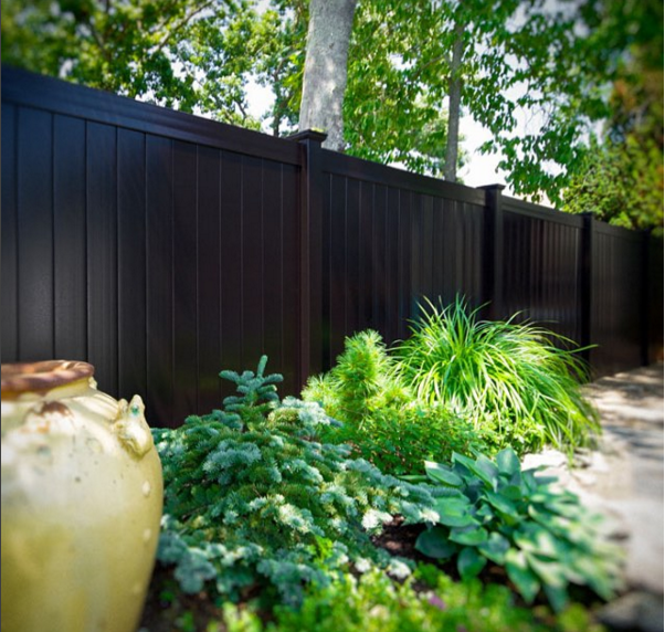 A modern fence from Illusion Fence's Instragram Page.